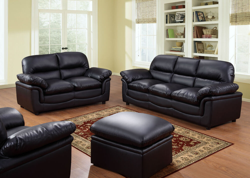 Verona 3 2 1 Seater Leather Sofas Black Brown Cream Sofa