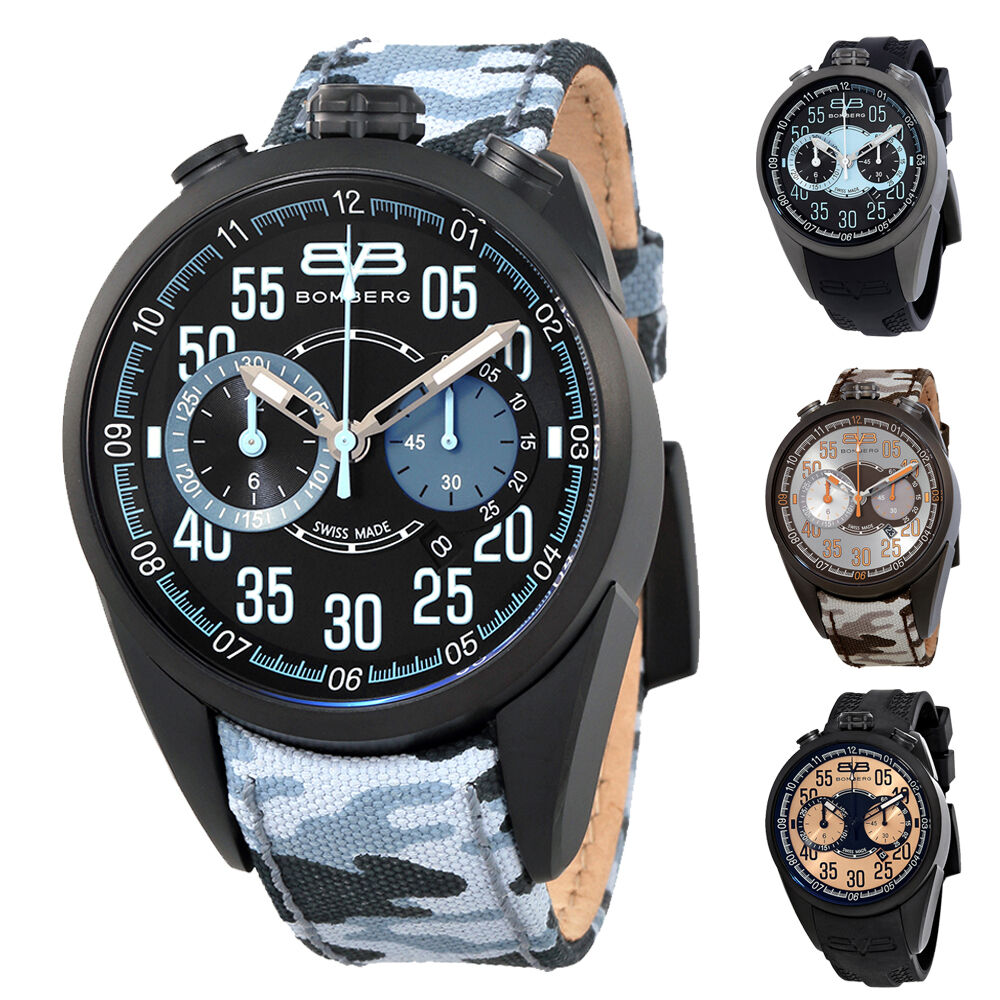 Bomberg 1968 Brown Dial Mens Chronograph Watch
