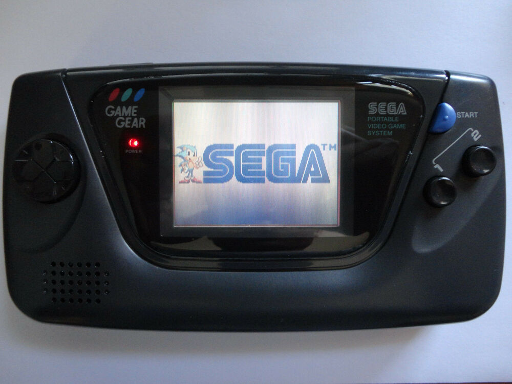New Glass Screen Sega Game Gear Launch Edition Black