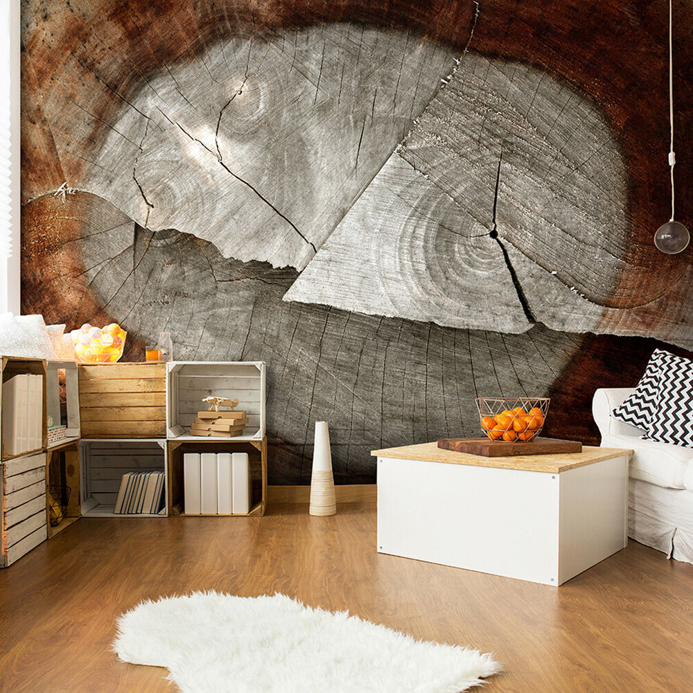 vlies fototapete holz effekt holzwand holz tapete wohnzimmer wandbilder xxl 157 ebay. Black Bedroom Furniture Sets. Home Design Ideas