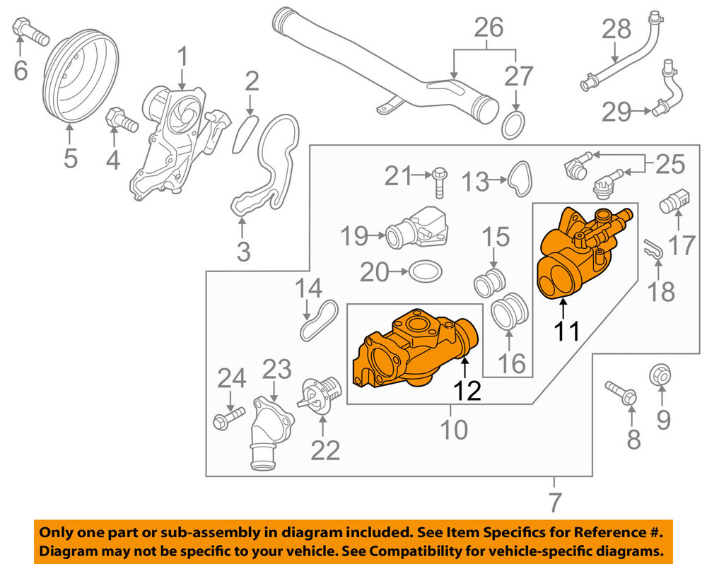 Kia Oem 14 16 Sedona Engine Coolant Thermostat Housing 256203caa0 Ebay Sorento Diagram In Addition 2003
