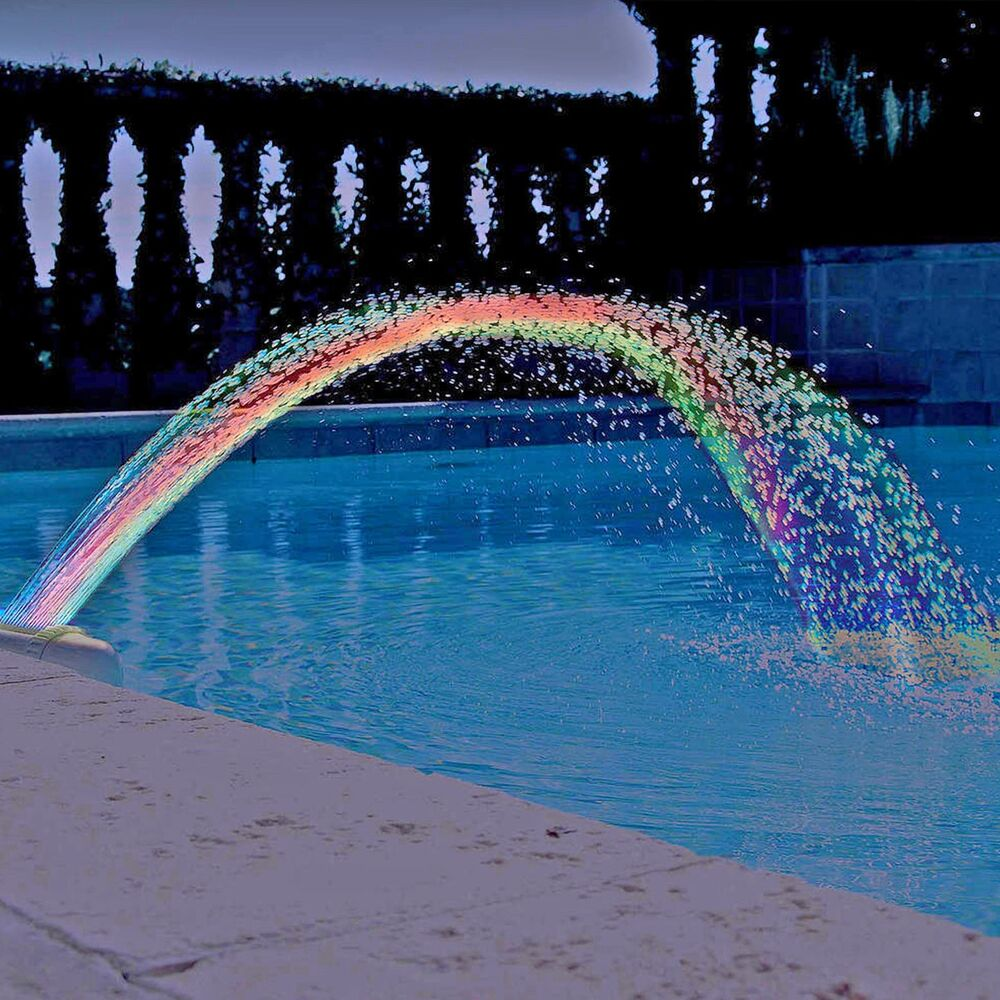Colorfoul Pool Accessory Lights Show Waterfall Fountain