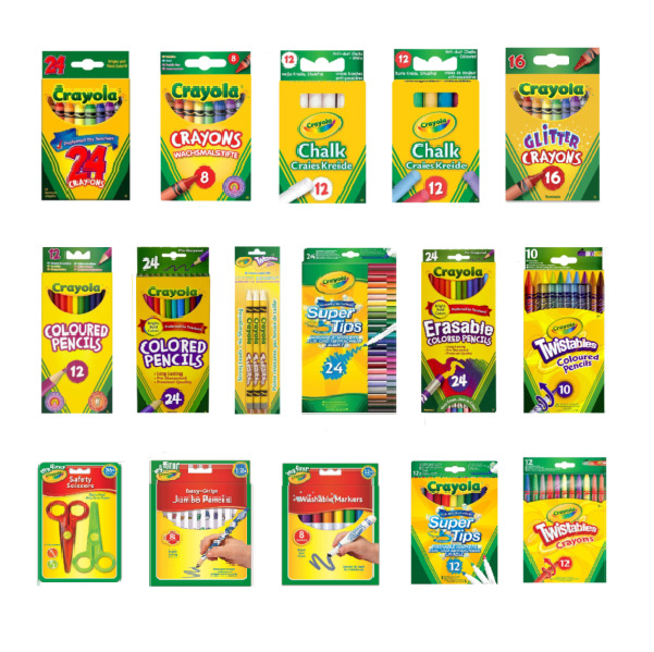 Crayola\'s Supertips,Crayons,Chalk,Pencils,Markers -28 Options to ...