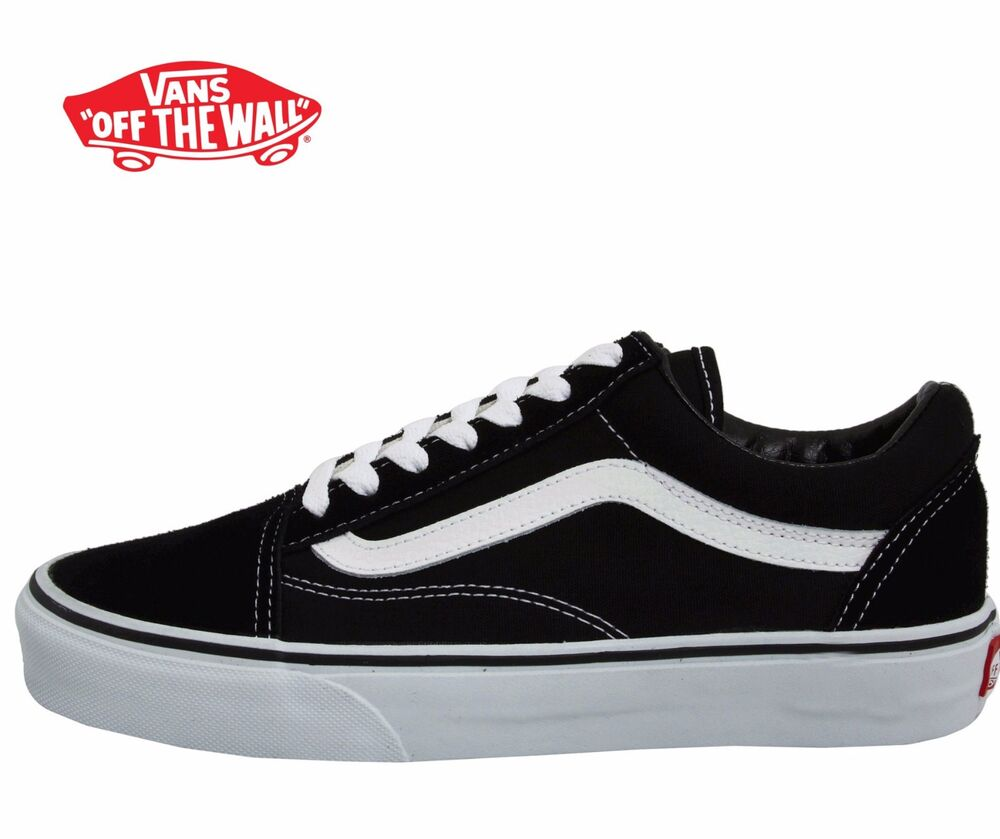 men 39 s vans old skool fashion sneaker classic black white canvas suede all sz new ebay. Black Bedroom Furniture Sets. Home Design Ideas