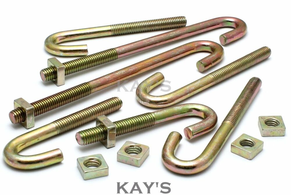M6 M8 J Hook Bolts Amp Square Nuts Roofing Guttering