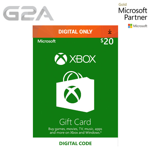 $20 XBOX Live 20 USD Gift Card