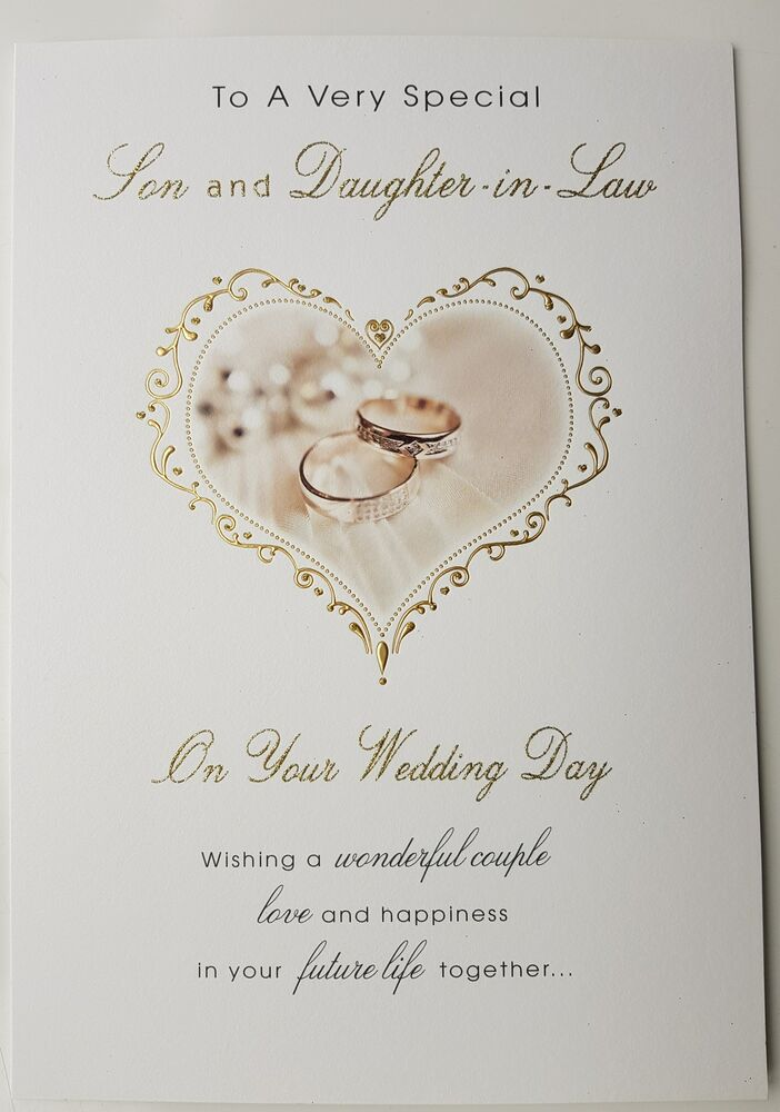 To A Very Special Son And Daughter In Law Wedding Card EBay