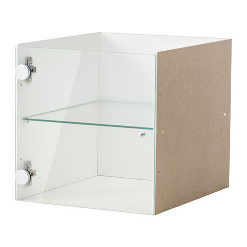 ikea kallax shelf rack insert with glass door 33x33cm white free fast dispatch ebay. Black Bedroom Furniture Sets. Home Design Ideas