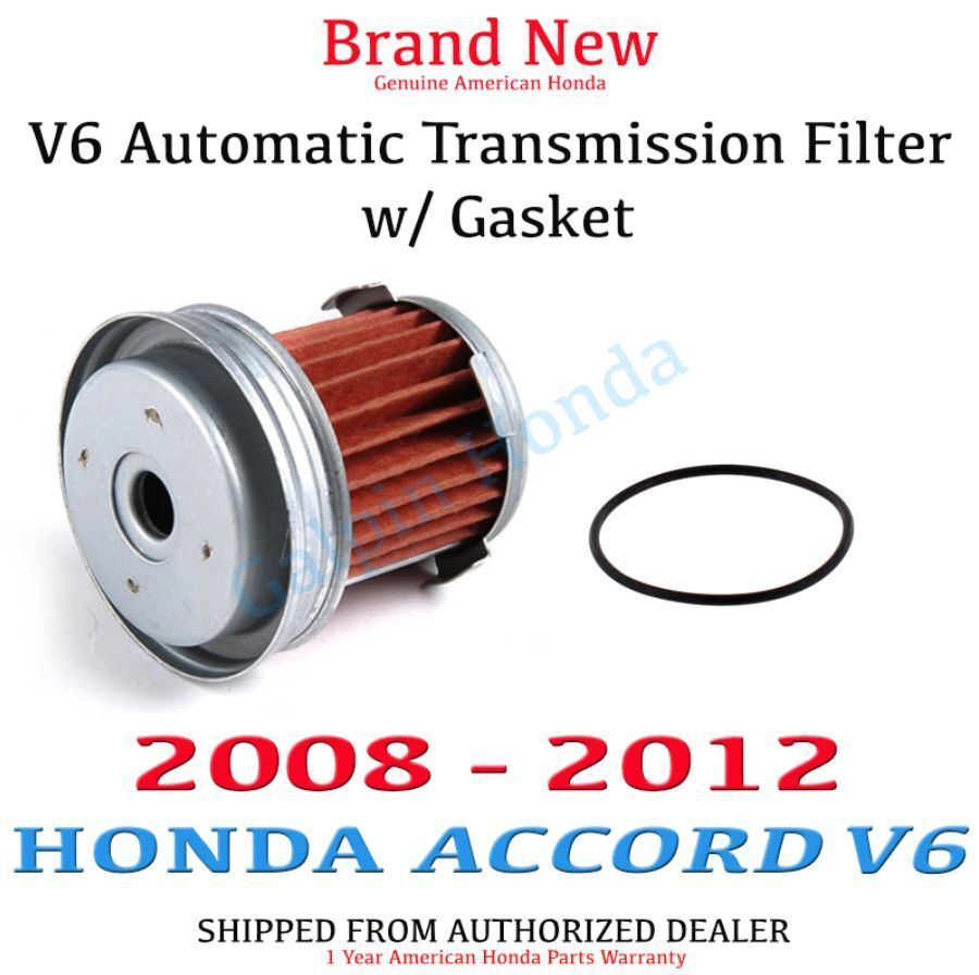 Genuine Oem Honda Accord V6 Automatic Transmission Filter W Gasket Atf 08 12 Ebay