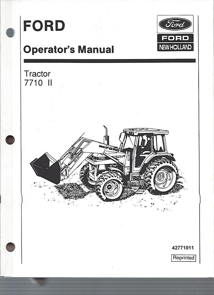 FORD 7710 Tractor Operators Manual, Series II, 1985 to 1991 w/Cab ...