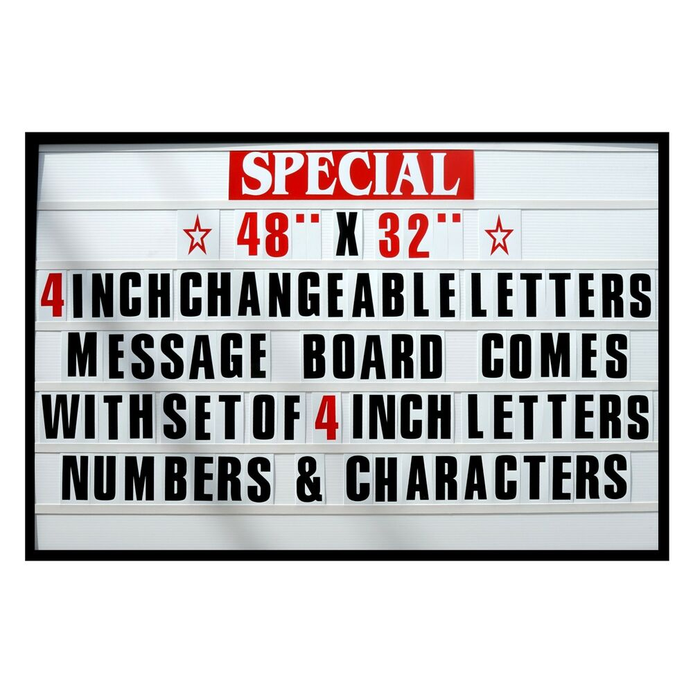 4quot big changeable letter message sign menu price marquee for Menu board changeable letters