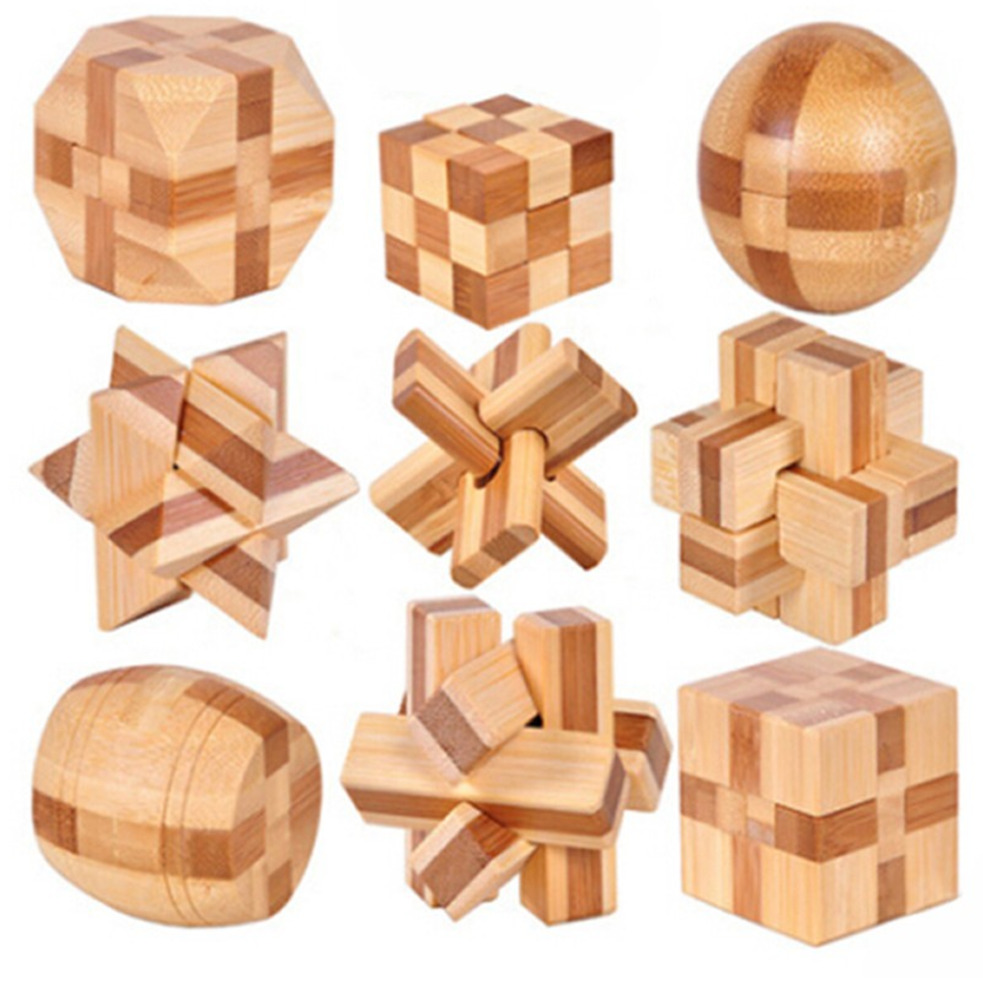 Brain Teasers Wooden Puzzles Kids Adults Toys Interlocking ...