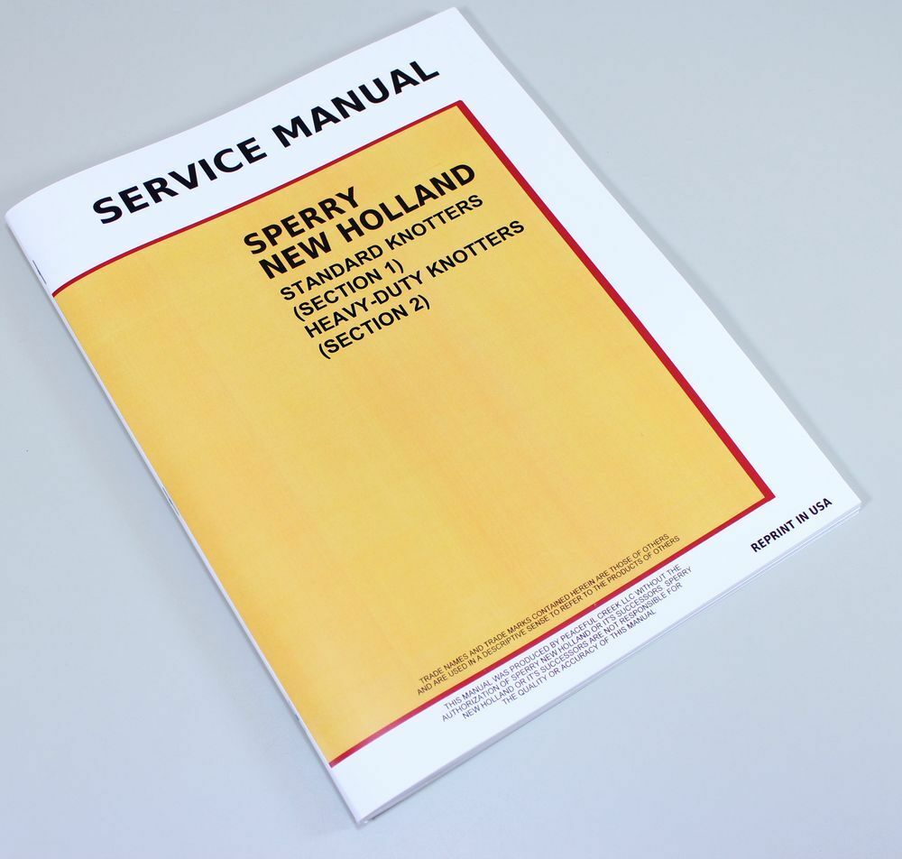 NEW HOLLAND 275 311 316 565 SQUARE BALER KNOTTER SERVICE REPAIR SHOP MANUAL  | eBay