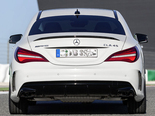 genuine cla45 amg rear diffuser sport edition mercedes. Black Bedroom Furniture Sets. Home Design Ideas