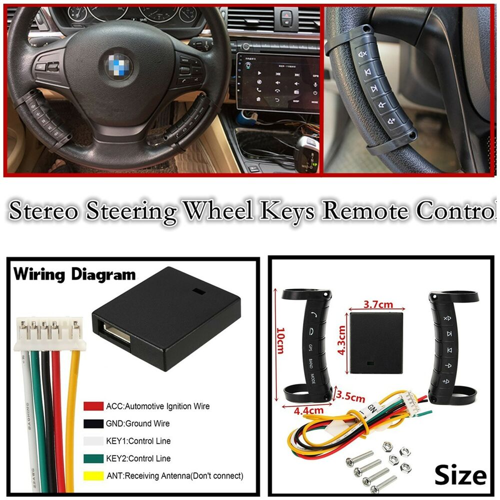 New Wireless Universal Car Steering Wheel Button Remote Control ...