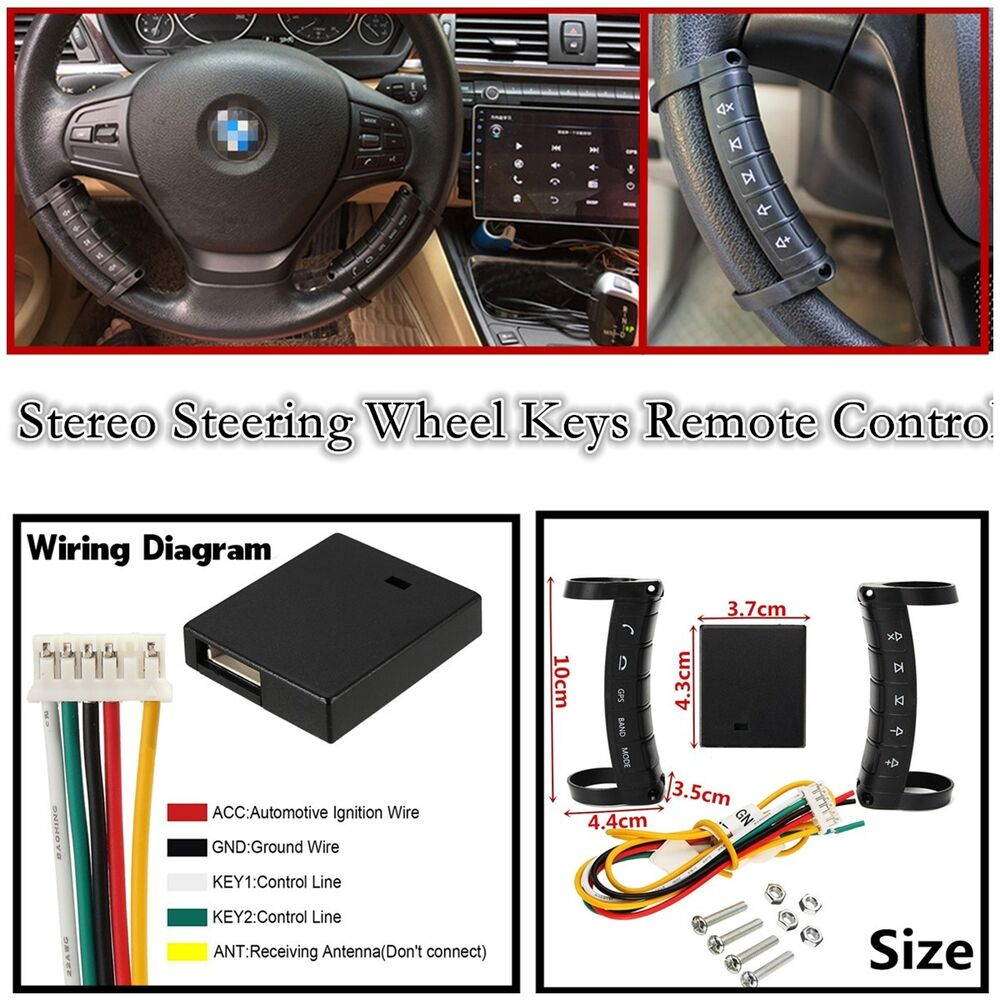 New Wireless Universal Car Steering Wheel Button Remote Control For Bmw X3 3 0 Radio Fuse Diagram Dvd Gps Mp3 4814554723768 Ebay