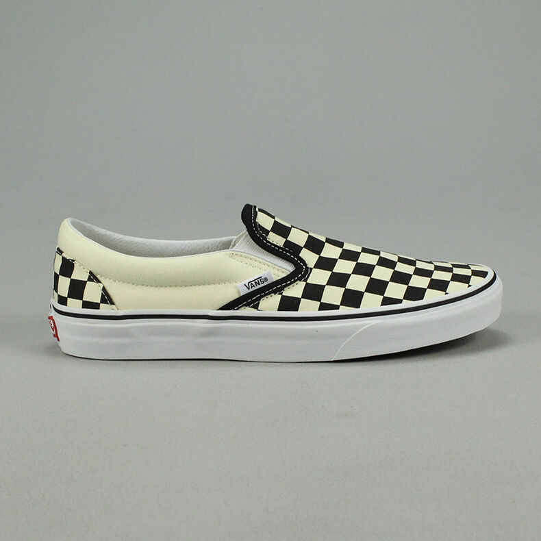7af679a856 Vans Classic Slip-On Checkerboard Black Trainers Sizes UK  4