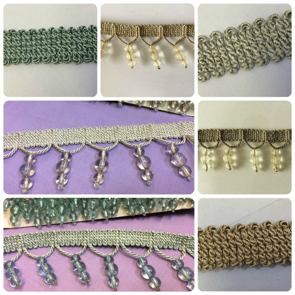 Designer Shaped Beaded Trim Amp Braid For Curtain Blind Bead