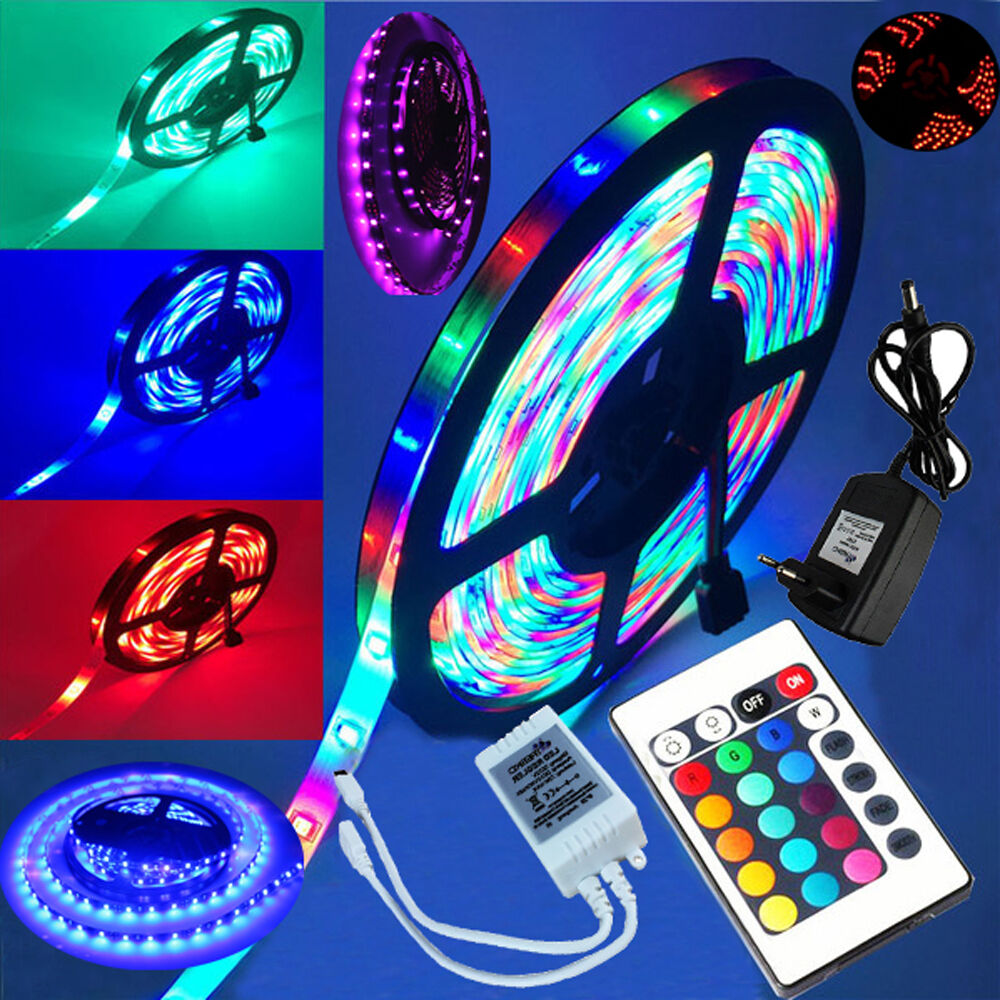 5m rgb led stripe leiste streifen lichter smd lichterkette 3528 5050 ebay. Black Bedroom Furniture Sets. Home Design Ideas