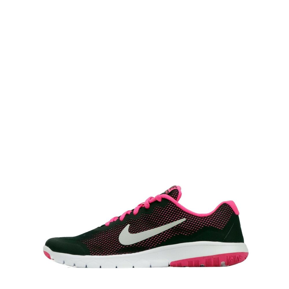 92a0f8944 Details about Nike Flex Experience 4 Junior Youth Girls Older Kids Running  Shoes Black Pink