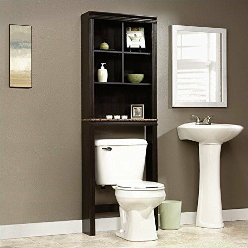 Over The Toilet Cabinet Bathroom Storage Wood Space Saver Shelf