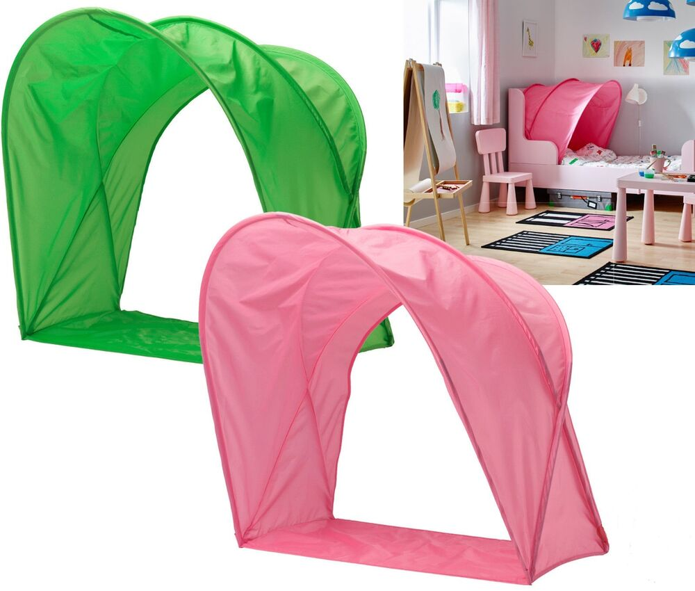 IKEA SUFFLETT CHILDRENu0027S BED TENT/ CANOPY- FOR KIDS SINGLE BED- PINK OR GREEN  sc 1 st  eBay & IKEA Bed Canopy | eBay