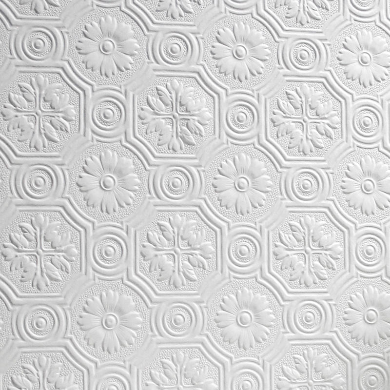 Flower paintable wallpaper luxury embossed textured vinyl for Paintable textured wallpaper