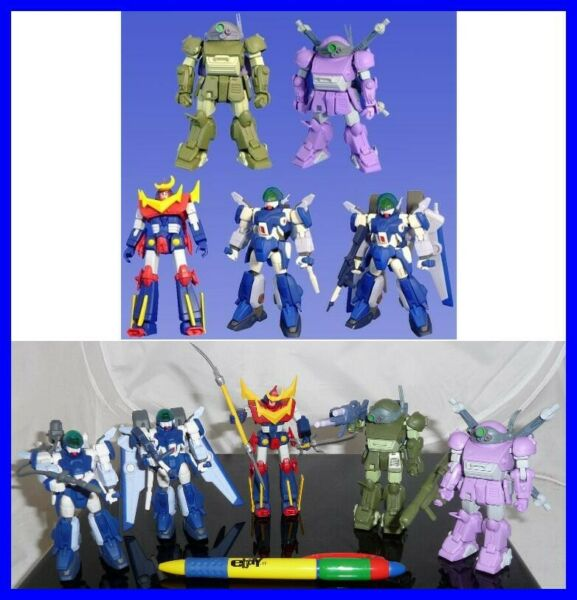 SET 5 Figure SUNRISE ROBOT Zambot Layzner Scopedog BANDAI JAPAN Trading Figures