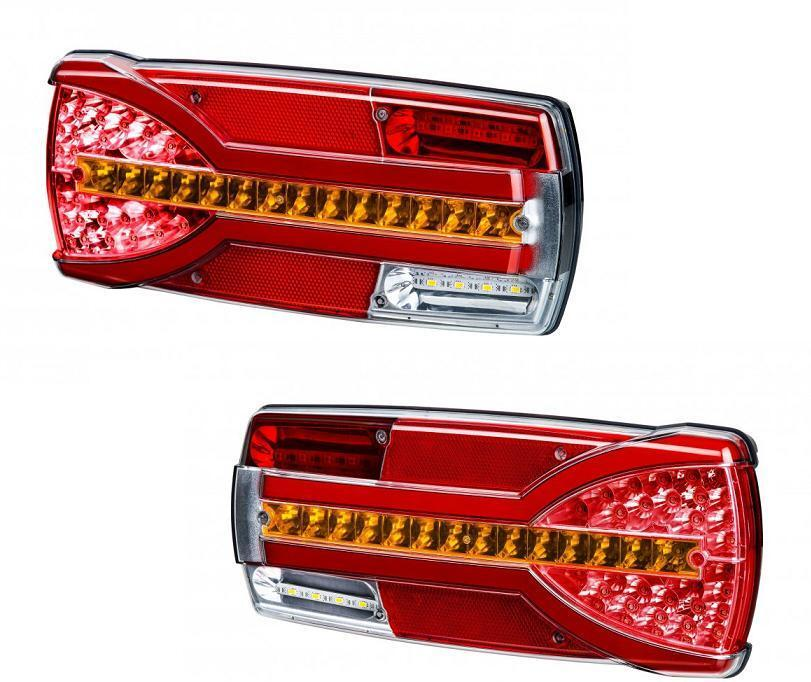Commercial Vehicle Lighting: 2x LED Neon Combination Rear Tail Lights Dynamic Direction