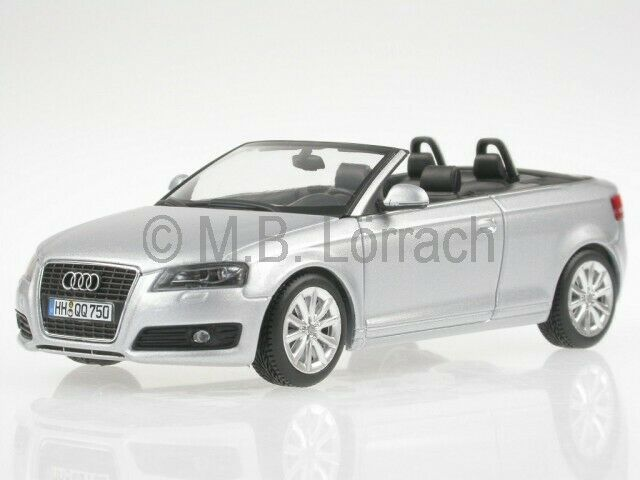 audi a3 convertible eissilver diecast model car minichamps. Black Bedroom Furniture Sets. Home Design Ideas