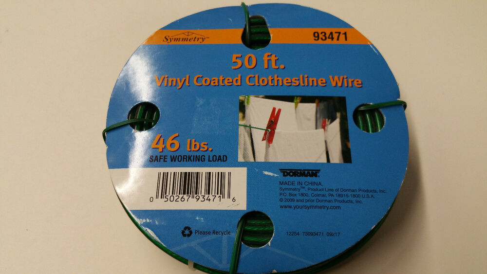 50ft Vinyl Coated Clothesline Wire Ebay