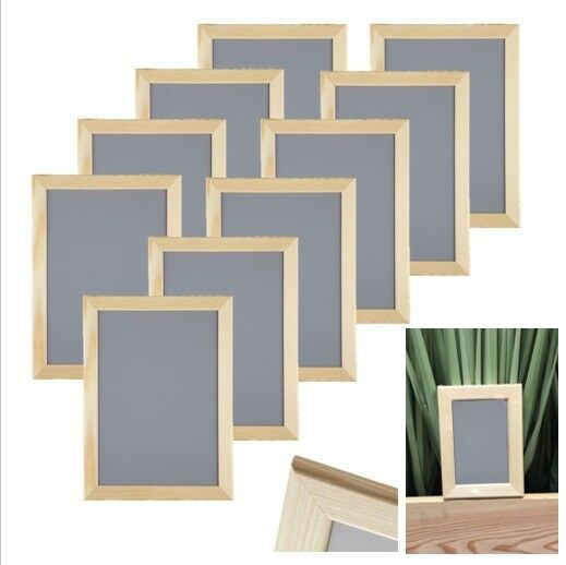 10 st ck set ikea vankiva 21x30 cm din a4 holz foto bilderrahmen kiefer neu ovp ebay. Black Bedroom Furniture Sets. Home Design Ideas