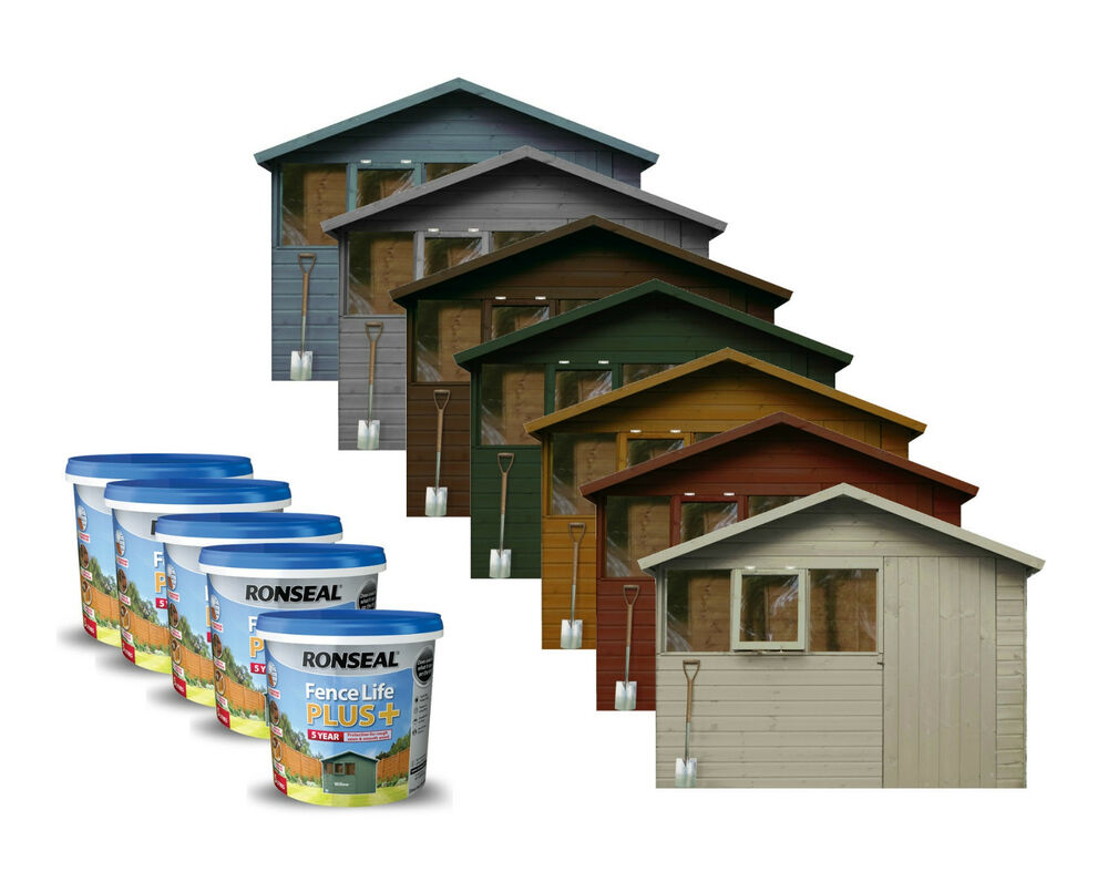 Ronseal Fence Life Plus Garden Shed Amp Fence Paint 5l Uv