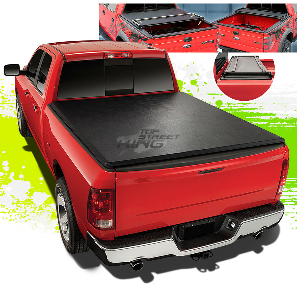 bec0d2af133 Details about 5.2  SOFT TRI-FOLD TRUNK BED TONNEAU COVER FOR 12-17  COLORADO CANYON CREW CAB