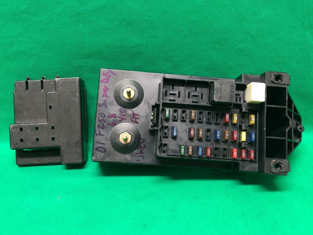 01 ford f250 f350 super duty interior fuse box relay. Black Bedroom Furniture Sets. Home Design Ideas