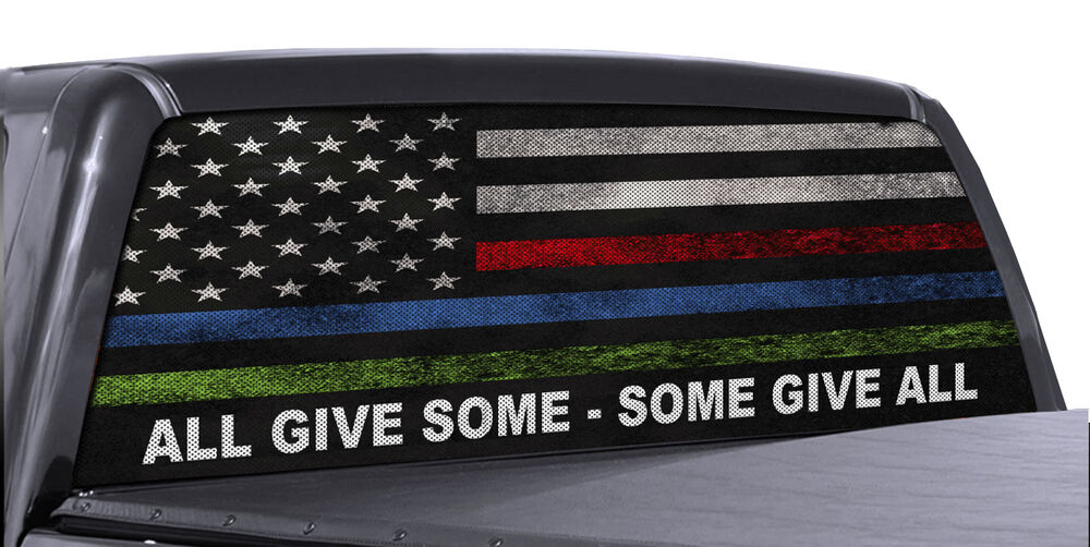 Truck Rear Window Decal Military Police Amp Fire American