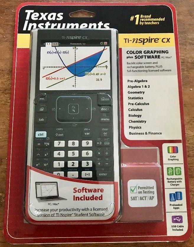 Texas Instruments Ti Nspire Cx Color Graphing Calculator