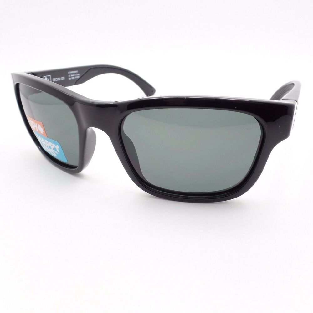 02ad56e6a58 Details about Spy Optics Hunt Black Happy Gray Green New Sunglasses  Authentic