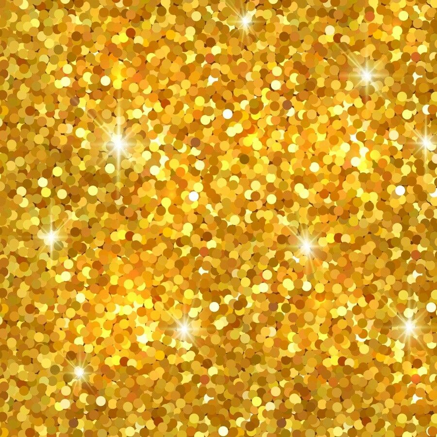 Glitter Gold: 10x10ft Photo Stage Backdrop Glitter Gold Sequins