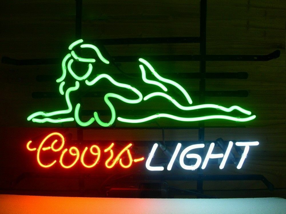 neon coors light sign beer bar signs pub x14 glass decor gift live party woman x15 wall 19x15 homeroom visual