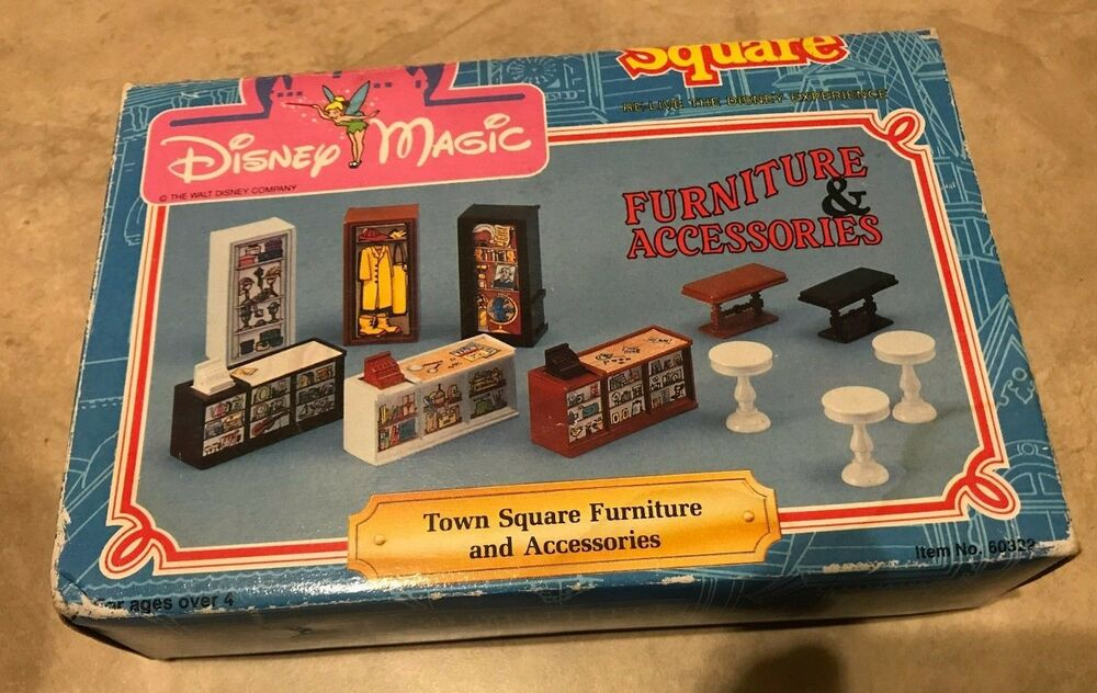 Vintage Disney Magic Town Square Furniture U0026 Accessories Land World NEW In  Box | EBay