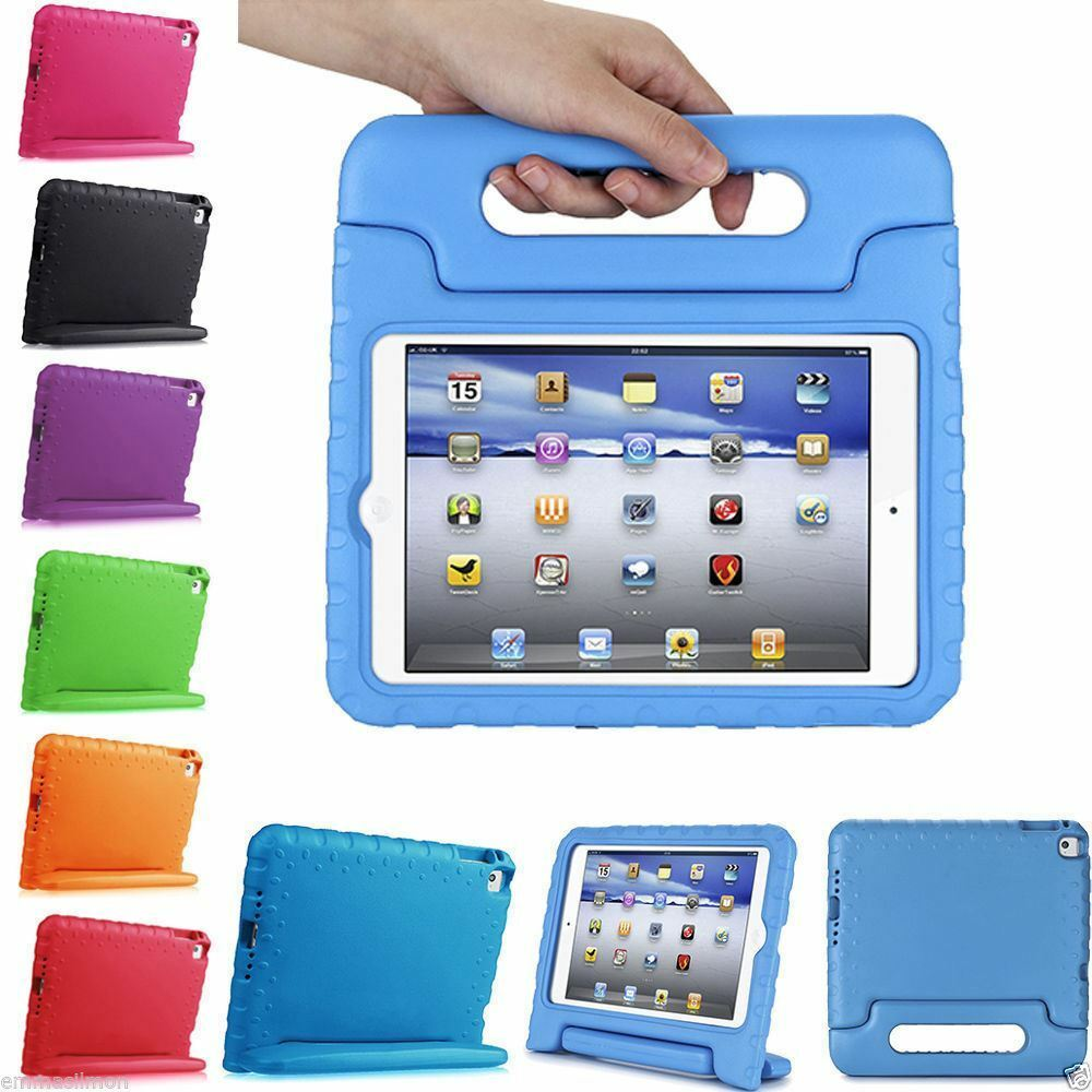 Kids Shock Proof Foam Case Handle Cover Stand For Ipad