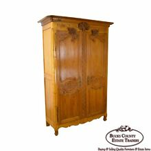 Antique 18th Century French Louis XV Style Large Armoire Cabinet