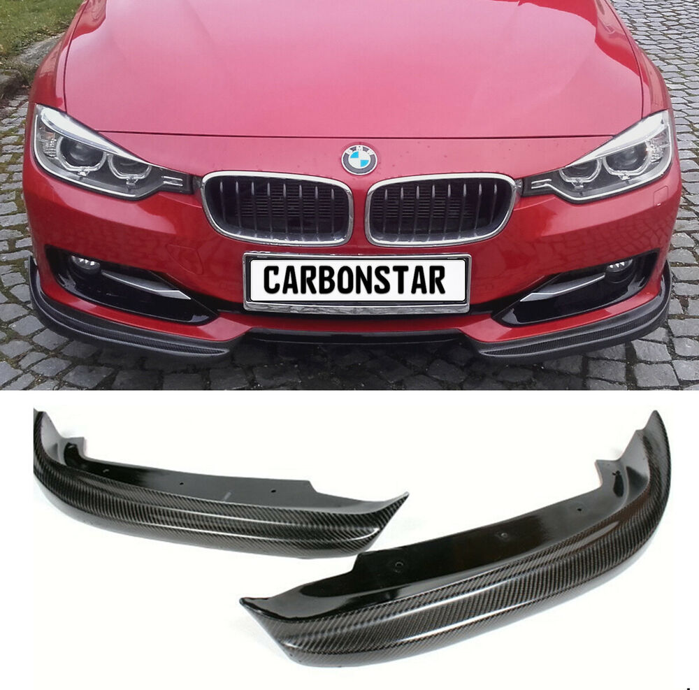 bmw f30 f31 3er carbon flaps splitter diffusor frontlippe vorne ohne m paket ebay. Black Bedroom Furniture Sets. Home Design Ideas