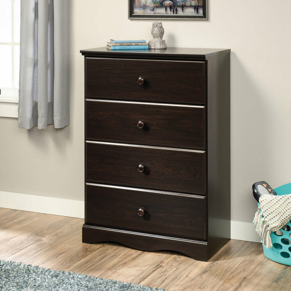 sauder storybook 4 drawer chest soft white finish ebay. Black Bedroom Furniture Sets. Home Design Ideas