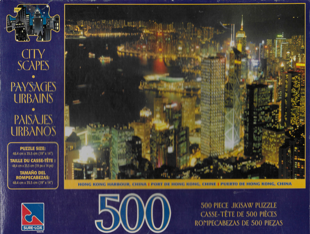 Hong Kong Harbor Port At Night 500 Piece 19 X 14 Jigsaw Puzzle