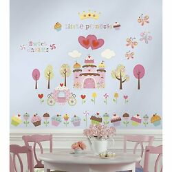 Girl Princess 56pc Removable Wall Sticker Cake Castle Heart Vinyl Bed Room Decal