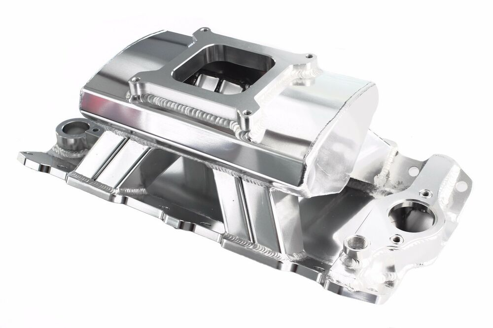 Polished Sbc Sheet Metal Fabricated Aluminum Intake Single