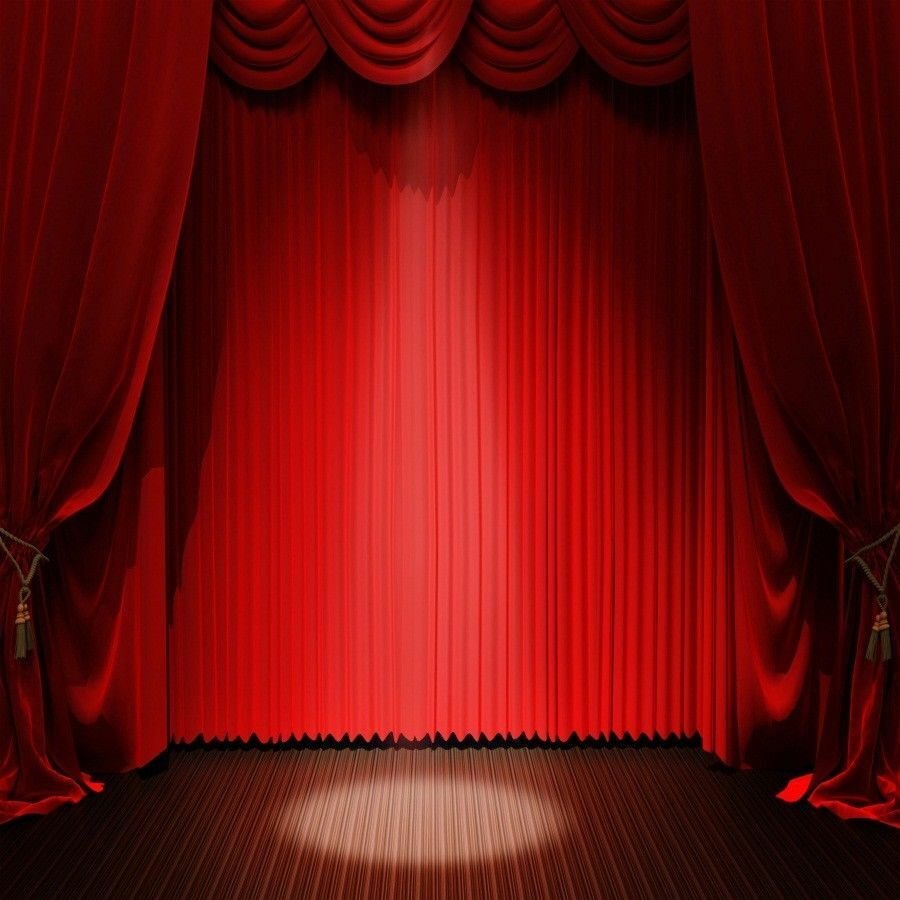 New Light Theater Project: 8x8ft Red Curtain Backdrop Light Stage Background Vinyl
