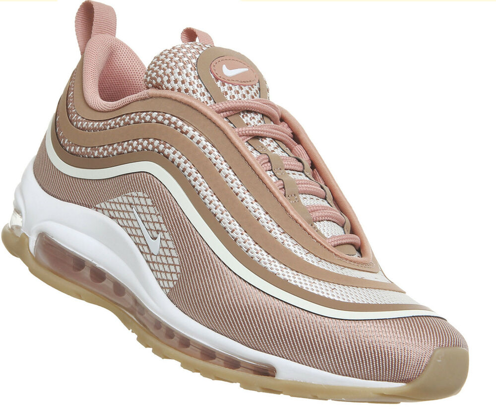 3552ce5d1e002 Details about Nike Air MAX 97 Ultra Metallic Rose Gold Brown Pink Womens  Trainers 917704-600